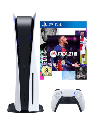 Sony Playstation 5 Console (Disc Version) With FIFA 21