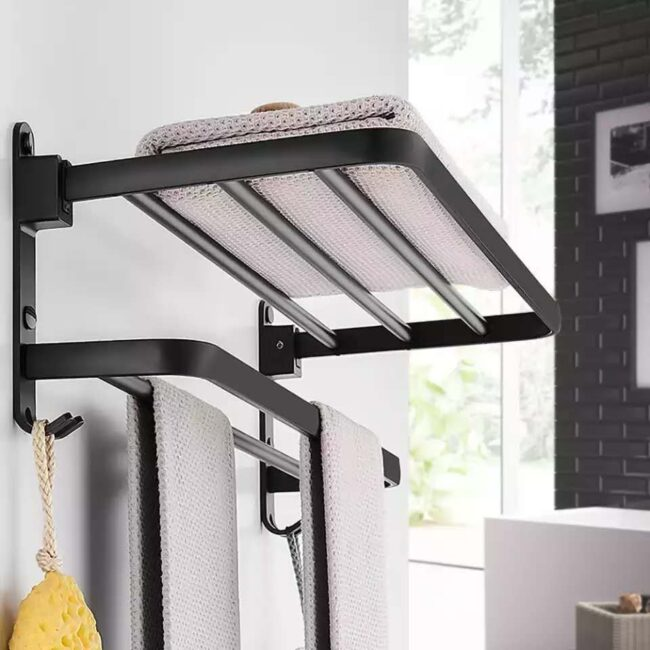 Floating Shelf with Removable Towel