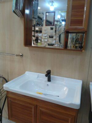 Wash Basin sink, TERRANO, Wash Basin with Half Pedestal - 530x460mm, White