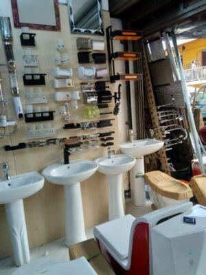Wash Basin sink With Pedestal White
